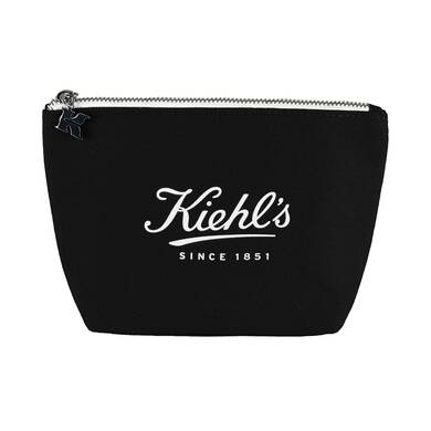 BLACK KIEHL'S CANVAS POUCH