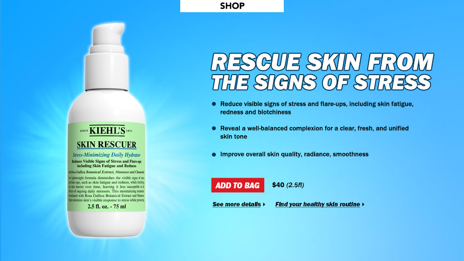 Rescue Skin From the Signs of Stress