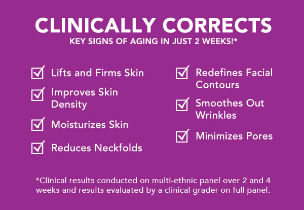Clinically corrects