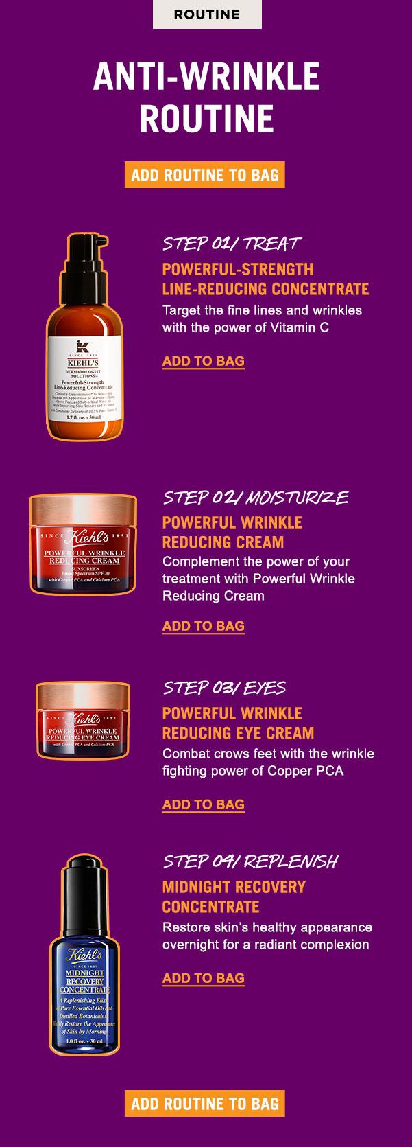 Anti-wrinkle routine